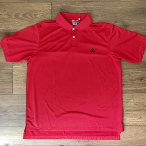 Men's Adidas Climalite Red Golf Polo Size Large L